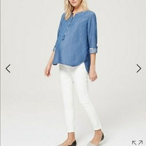 Loft over belly maternity jean